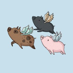 ddf6e7d5961991c2aa014b2b802431a9--pig-flying-flying-pigs-art